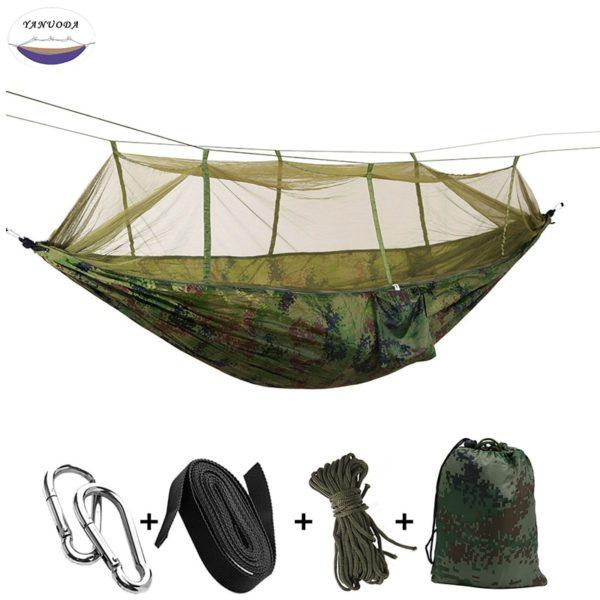 Hamac moustiquaire et accessoires vert kaki camouflage