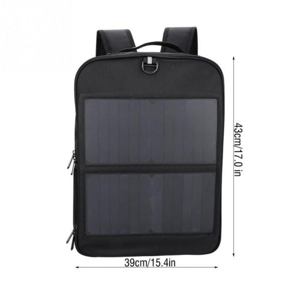 Sac à dos avec chargeur solaire grande dimensions