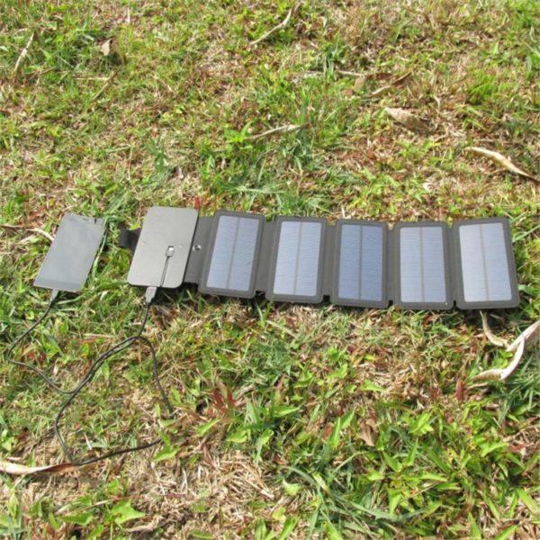 Chargeur solaire pliable outdoor multiples panneaux