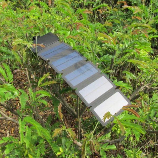 Chargeur solaire pliable multiples panneaux