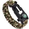 Bracelet paracorde camouflage clair