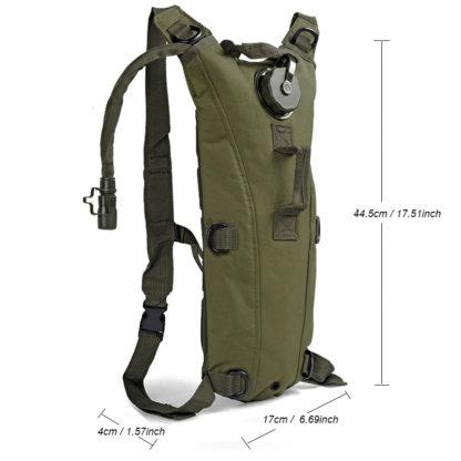 Dimensions sac à dos respirant avec poche à eau camelback militaire