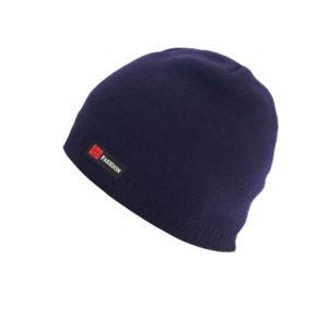 Bonnet bleu marine intérieur fourrure