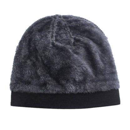 Bonnet chaud pour l'hiver doublé fourrure