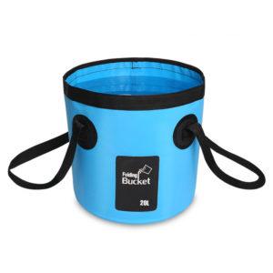 Seau d'eau pliable bleu de 20 litres