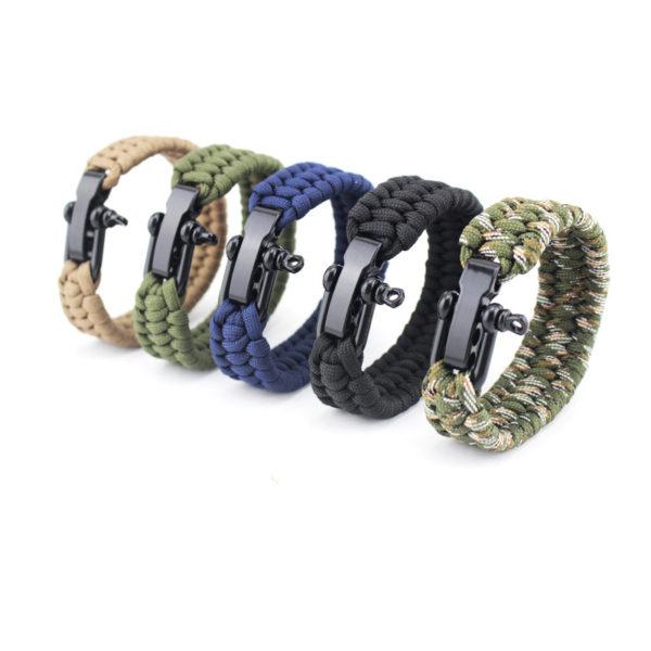 Bracelet paracorde réglable différents coloris