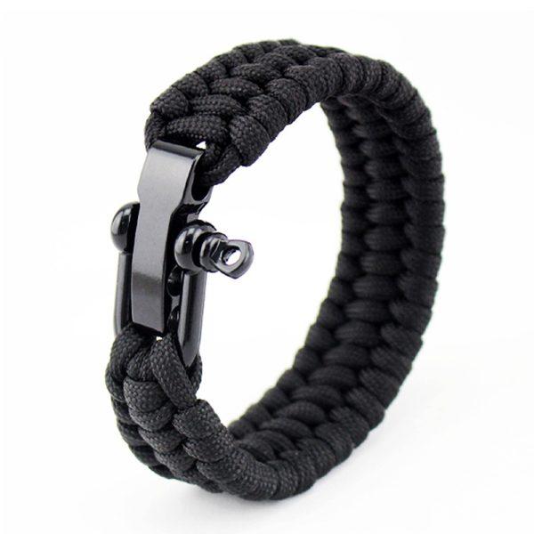 Bracelet paracorde réglable avec manille résistance 200Kgs