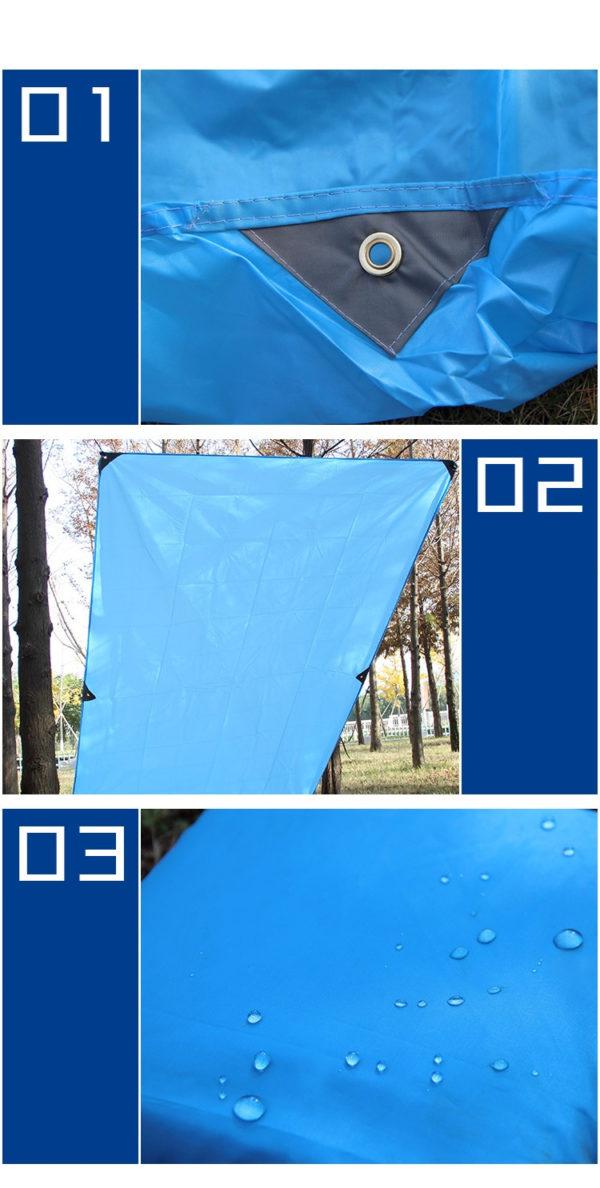 Conçu en nylon haute densité, il est étanche et protège des UV. Ses applications sont donc multiples