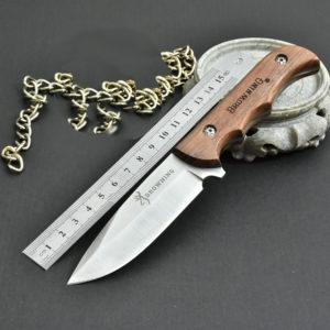 Couteaux manche en bois en alliage de chrome