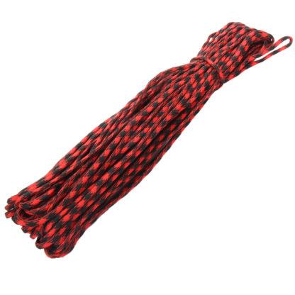 Paracorde bushcraft rouge et noire