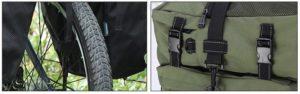 Installation facile de sacoches de vélo porte bagage