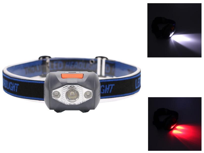 Rouge Étanche Led Blanc Iukpxz Mini Modes 4 3 Frontale Lampe thrQsdC