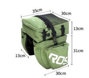 Sacoche de vélo porte bagage 37l