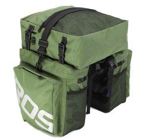 Sacoches de vélo porte bagage arrière de couleur verte
