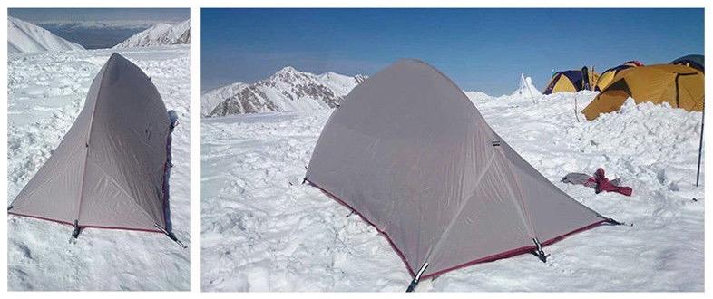 Tente ultra légère pour une personne conditions extremes